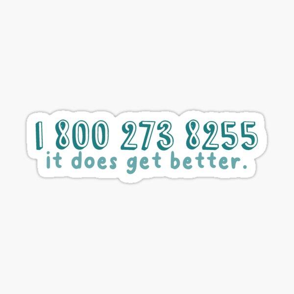 National Suicide Prevention Hotline Phone Number Suicide Prevention Mental Health Awareness Sticker