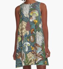mushroom forest A-Line Dress