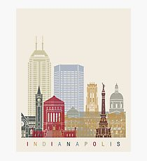 Indianapolis skyline poster Photographic Print