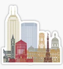 Indianapolis skyline poster Sticker