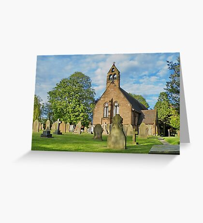 Church in Cheshire, England Greeting Card
