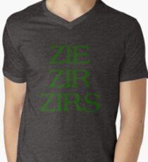 Pronouns - ZIE / ZIR / ZIRS - LGBTQ Trans pronouns tees Men's V-Neck T-Shirt