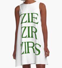 Pronouns - ZIE / ZIR / ZIRS - LGBTQ Trans pronouns tees A-Line Dress
