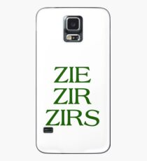 Pronouns - ZIE / ZIR / ZIRS - LGBTQ Trans pronouns tees Case/Skin for Samsung Galaxy