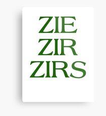 Pronouns - ZIE / ZIR / ZIRS - LGBTQ Trans pronouns tees Metal Print