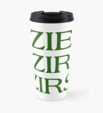 Pronouns - ZIE / ZIR / ZIRS - LGBTQ Trans pronouns tees Travel Mug