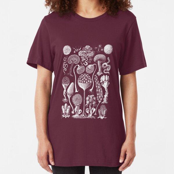 Haeckel biology mushroom fantasy Slim Fit T-Shirt