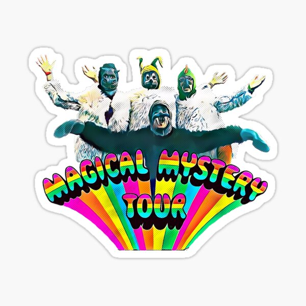 Magical Mystery Tour - Album Cover - Colored Sticker