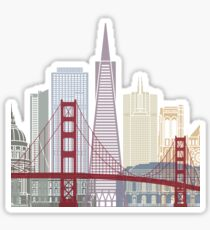 San Francisco skyline poster Sticker