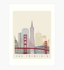 San Francisco skyline poster Art Print