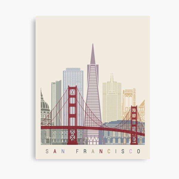 San Francisco skyline poster Canvas Print