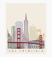 San Francisco skyline poster Photographic Print