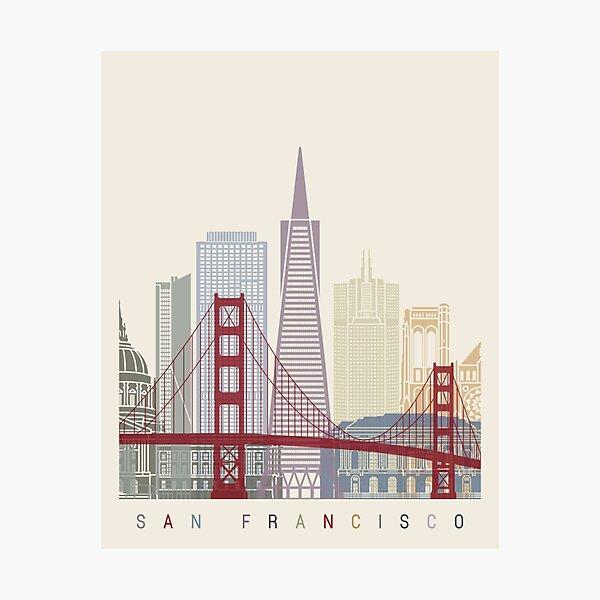 San Francisco skyline poster Photographic Print