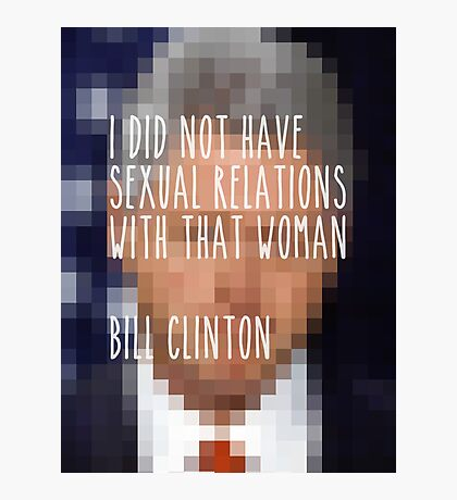 No Sexual Relations Photographic Print