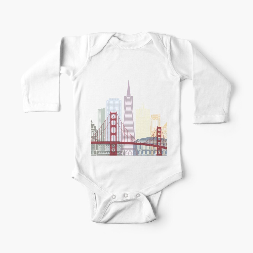 San Francisco skyline poster Baby One-Piece