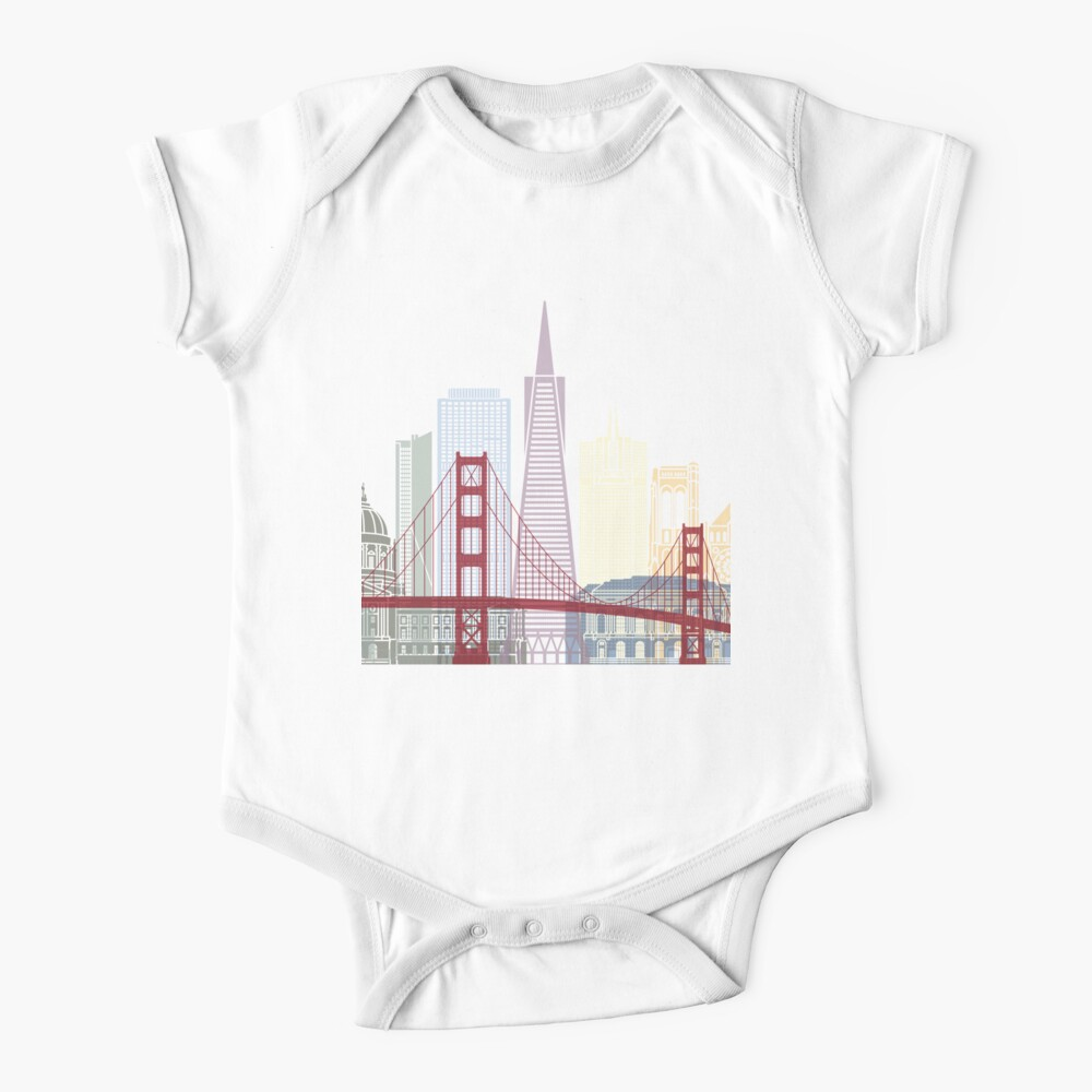 San Francisco skyline poster Baby One-Piece