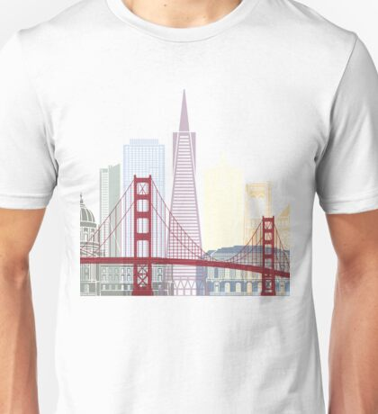 San Francisco skyline poster Unisex T-Shirt