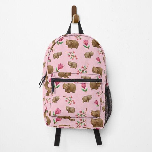 Pink Australian Wombat pattern Backpack