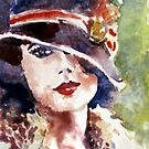 portrait a lady in a hat by pamfox