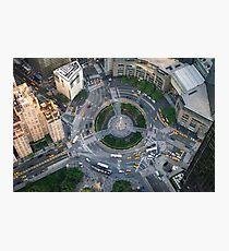 Aerial Columbus Circle Photographic Print