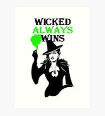OUAT. Wicked Always Wins. Zelena. Art Print
