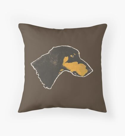 Loyal Doberman Throw Pillow