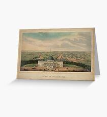 Vintage Pictorial Map of Washington D.C. (1880) Greeting Card