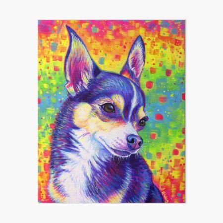 Rainbow Chihuahua Art Board Print