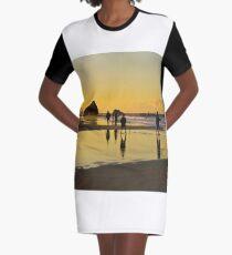 Golden Currumbin Graphic T-Shirt Dress