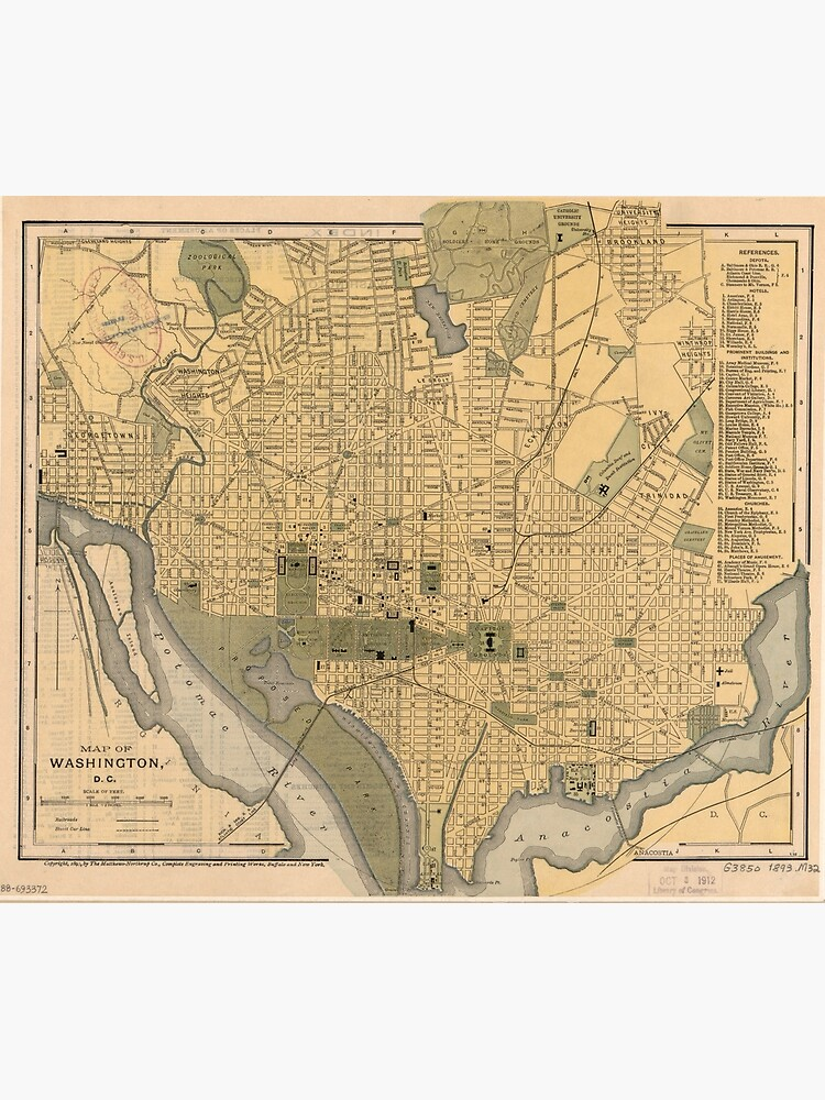 Vintage Map of Washington D.C. (1893) | Poster on flat map of united states, printable flat map, flat map pennsylvania, world map, sua flat map, america flat map, chantry flats map, flat globe, flat map of countries, flat map of asia, future of the united states map, usa map, a flat map, flat global map, 48 united states map, red state blue state map, flat europe map, empty states map, flat continent map, globe flattened to map,
