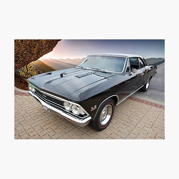 1966 Chevelle SS and Sierra Nevada Mountains Photographic Print