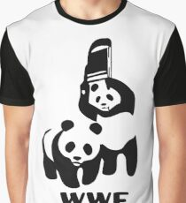 Panda Wrestling Meme Graphic T-Shirt