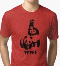 Panda Wrestling Meme Tri-blend T-Shirt