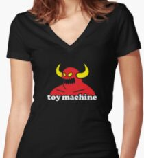 Toy Machine Women's Fitted V-Neck T-Shirt