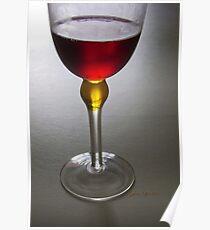 Wine glass art Poster