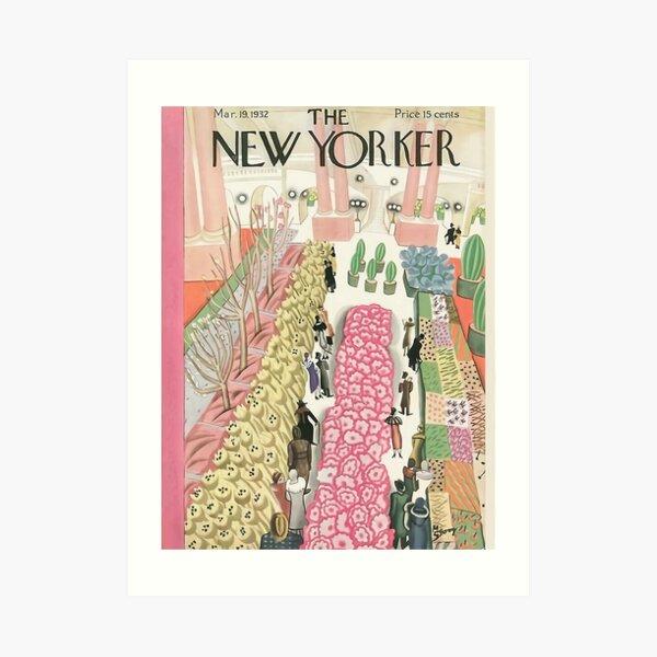 Pink Flower New Yorker Art Print