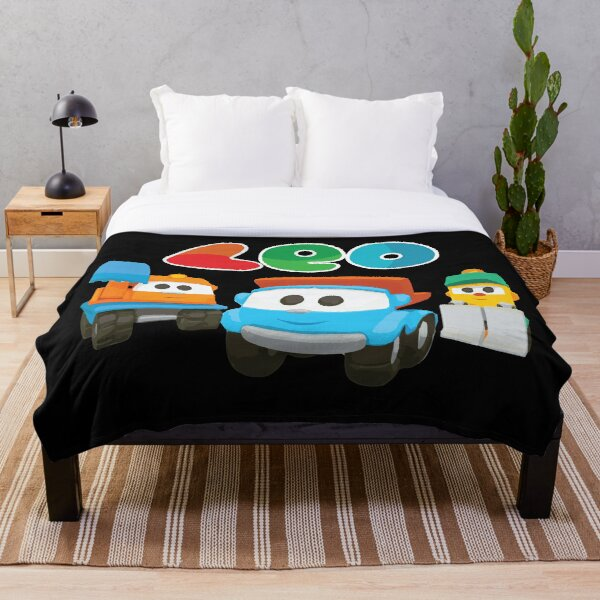 leo the truck, lifty and scoop  Throw Blanket