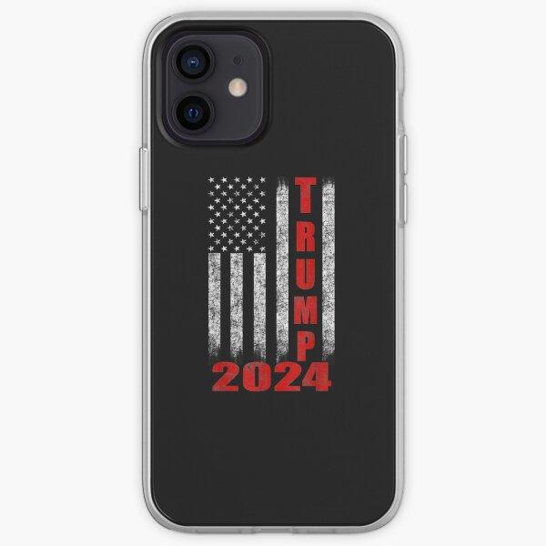 American Flag Design T.R.U.M.P 2024 iPhone Soft Case