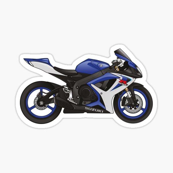 Suzuki GSX-R 600 2007 Bleu Sticker
