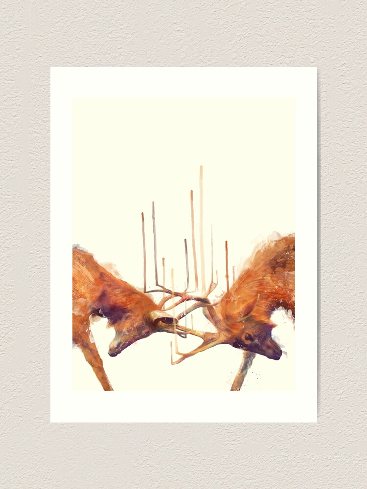 Alternate view of Stags // Strong Art Print