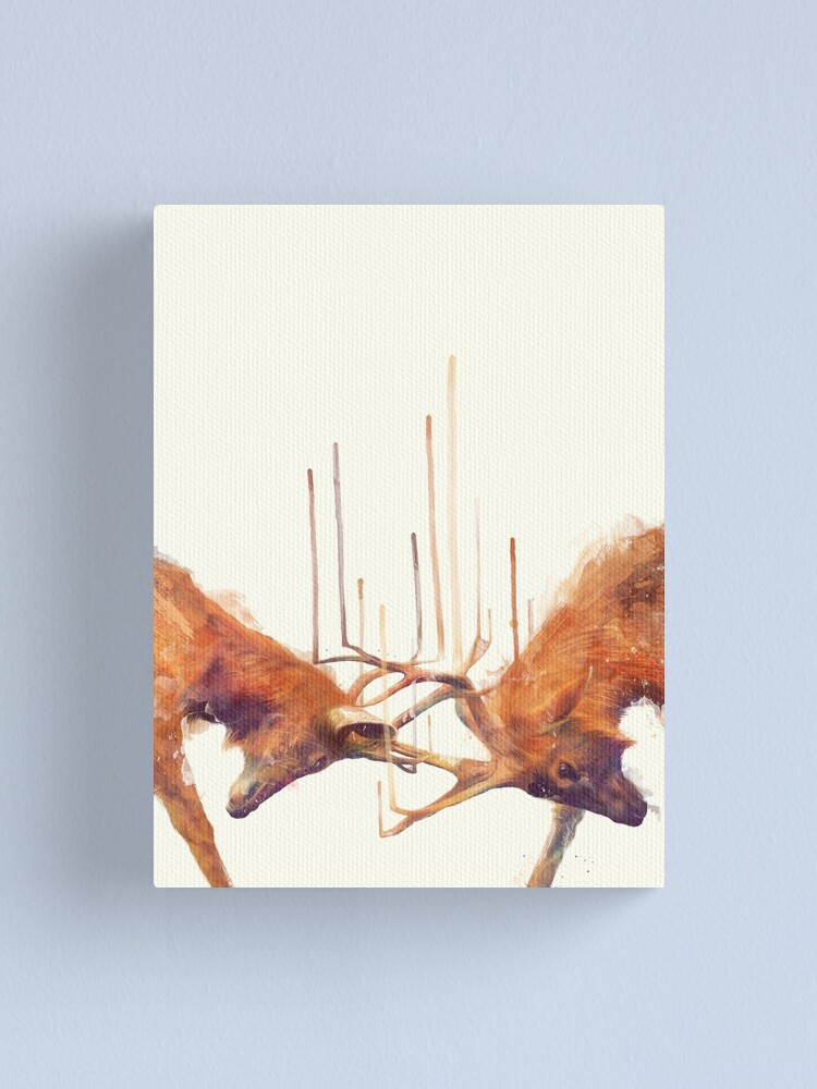 Alternate view of Stags // Strong Canvas Print