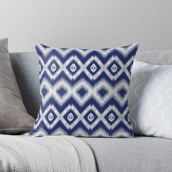 Ethnic seamless ikat pattern  Throw Pillow