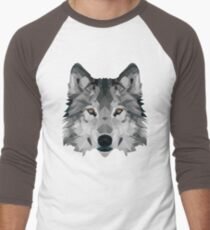 Crystalline Wolf Men's Baseball ¾ T-Shirt