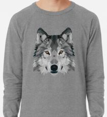 Kristalliner Wolf Leichtes Sweatshirt