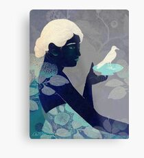 Bird on a plate Metal Print