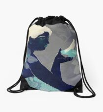 Bird on a plate Drawstring Bag