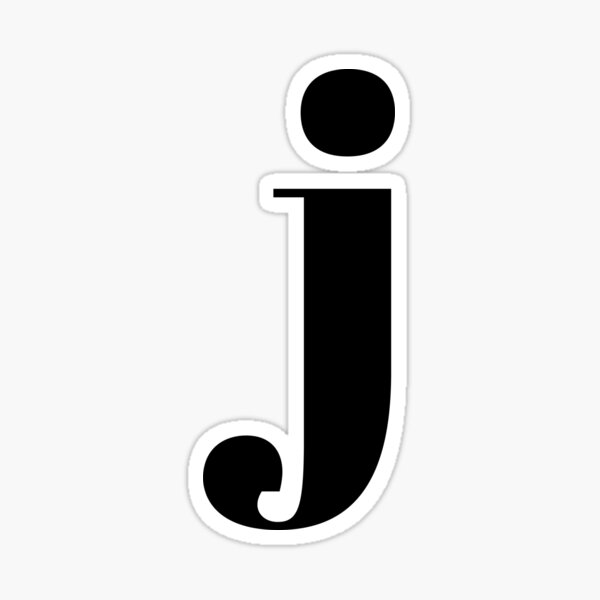 """j"" initial Sticker"