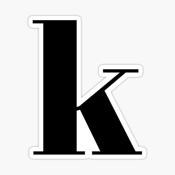 """k"" initials Sticker"