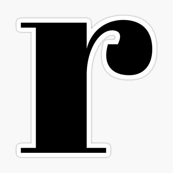 """r"" initial Sticker"