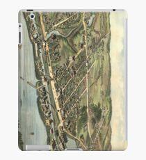 Vintage Bildkarte von Windsor Locks CT (1877) iPad-Hülle & Klebefolie